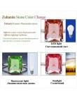 Kuololit Diaspore sultanit zmienia kolor pierścienie z kamieniami szlachetnymi dla kobiet prawdziwe 925 Sterling Silver Emerald