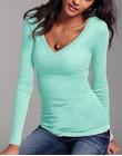 Jesień damska bawełniana koszulka z długim rękawem czarna biała koszulka Casual Shirt Femme kobiece szczupłe seksowne topy Plus