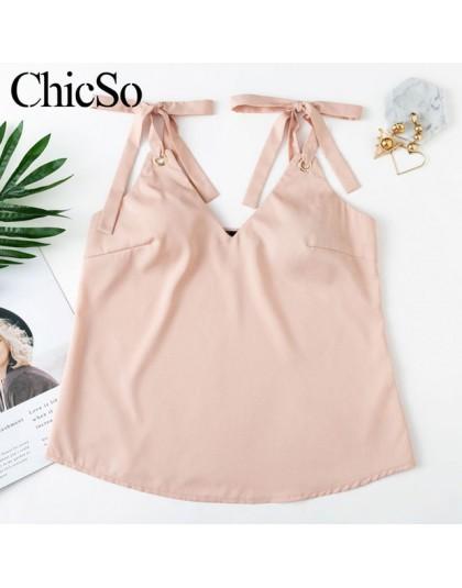 MissyChilli v neck sexy lace up luźne damski tank top kobiety podstawowe bez rękawów różowy camisole lato elegancki w stylu casu