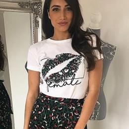 OOTN Sexy Lips drukuj lato koszulek kobiety biały T shirty kobiet dorywczo 2019 koszulkę Femme z krótkim rękawem topy Floral blu