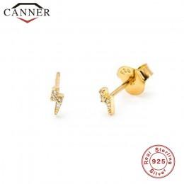 925 kolczyki sztyfty ze srebra wysokiej próby dla kobiet proste gładkie błyskawica/wąż/motyl kolczyki kobiece moda minimalistycz