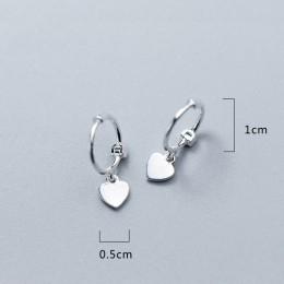 2019 100% 925 stałe srebro kobiety moda krzyż serce gwiazda urok stadniny kolczyki dar przyjaźni nastoletnie dziewczyny przyjaci