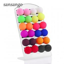 12 par/karta Multicolor Ball Stud kolorowe akrylowe kolczyki uszy biżuteria dla kobiety dziewczyny prezent biżuteria
