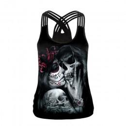 [Jesteś moim sekretem] 2019 Summer Skull Girl Digital Print podkoszulki damskie fantastyczny gotycki styl koszulka na ramiączce