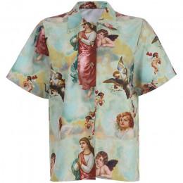Vintage T Shirt damski Top damski Harajuku anioł koszulka z nadrukiem Femme Streetwear Roupas Femininas Bluse letnia odzież