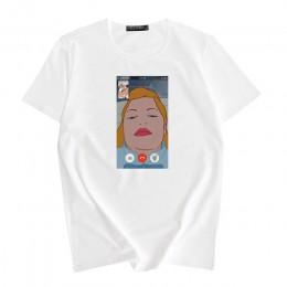 Disney Princess śmieszny nadruk letnia nowa moda damska koszulka z krótkim rękawem Harajuku vintage koszulka z kreskówek dla kob