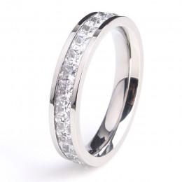 KNOCK Girls geometryczny pierścionek wypełniony i pierścionek z różowego złota obietnica obrączki ślubne dla kobiet najlepsze pr