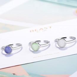 Nowe mody słodki pierścionek z kamieniem księżycowym dla kobiet prosty otwarty pierścionek kobiet koreańska biżuteria hurtowych