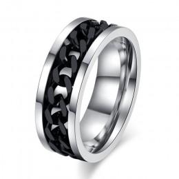 Meaeguet Spinner Chain Ring mężczyźni stal nierdzewna Metal nie znikną złoty czarny niebieski kolor srebrny kolor Reliever stres