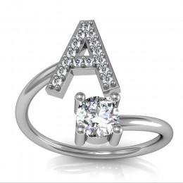 Double Fair 26 list kreatywny cyrkonia biały złoty kolor otwarty pierścień dla kobiet Lady Party prezent biżuteria KCR208