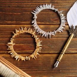 Vintage Punk Style Charm nit bransoletki dla kobiet gorąca sprzedaż projekt moda biżuteria tekstury stop złota i srebra kolor gw