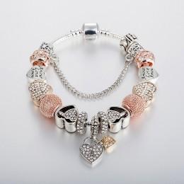 ANNAPAER moda luksusowe koraliki z kryształu górskiego Charms Trendy retro koraliki Fit Pan oryginalne bransoletki bransoletki z