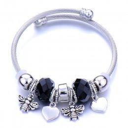 Drzewo miłości życia Elephantshape bransoletka biżuteria 6 kolorów srebrny Lobster klamra wąż łańcuch bransoletki bransoletka z