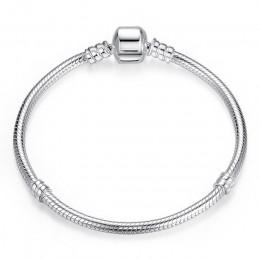 WOSTU oryginalna 3 style bransoletki i łańcuszki na rękę 100% 925 Sterling srebrna bransoletka Fit DIY koralik do bransoletki z