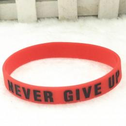 """""""Droga do marzeń"""" """"nigdy się nie poddawaj"""" inspirująca inspirująca bransoletka z gumy silikonowej elastyczna bransoletka prezent"""