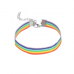 MLING Vintage Rope Chain Charm bransoletka moda Gay Pride Rainbow bransoletka bransoletka przyjaźni
