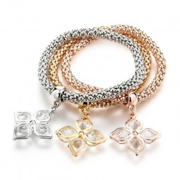 LongWay Vintage Designer austriackie kryształy złoty kolor urok drzewo życia bransoletki łańcuch popcorn biżuteria dla kobiet SB