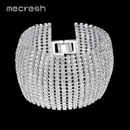 Mecresh kryształowe ślubne bransoletki dla kobiet Rhinestone afryki druhna bransoletki 2019 na ślub bal biżuteria prezent na boż