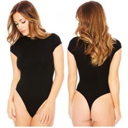 Sexy Romper kobiety body z krótkim rękawem 2019 lato nowe jednolite kombinezony sukienka do klubu O-Neck Sexy długa koszula kobi