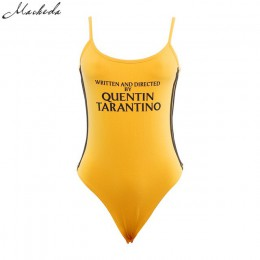 Macheda 2017 moda Sexy bawełniane letnie body kobiety żółty pasek Romper kobiet ogólnie letni kombinezon Skinny odzież robocza