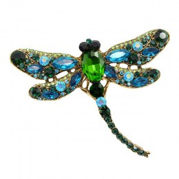 CINDY XIANG Crystal Vintage Dragonfly broszki dla kobiet duża broszka z owadem moda elegancki płaszcz akcesoria śliczna biżuteri