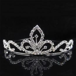 AINAMEISI księżniczka kryształowe tiary i korony z pałąkiem na głowę Kid Girls Love bal weselny korona wesele akcesoria biżuteri