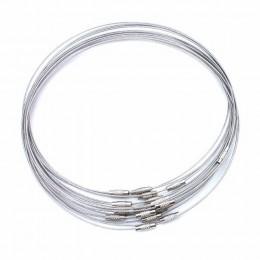 10 sztuk/partia 46cm srebrny ze stali nierdzewnej naszyjnik ze stali przewód zasilający dla DIY biżuteria rękodzielnicza