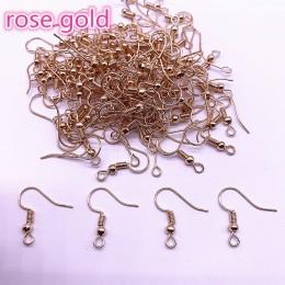 Hurtownie 100 sztuk (50 pair) ustalenia kolczyk Hook cewki bigiel DIY tworzenia biżuterii