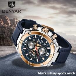 BENYAR 2020 nowe kwarcowe zegarki męskie wielofunkcyjne sportowe chronograf mężczyźni top luksusowa marka wrist watch Relogio Ma