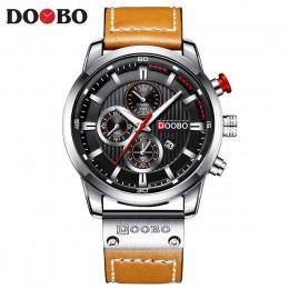DOOBO luksusowej marki mężczyźni analogowe skórzane zegarki sportowe męskie wojskowe armii męskie data zegar kwarcowy Relogio Ma