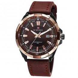 NAVIFORCE męskie zegarki Top luksusowa marka moda Sport zegarki mężczyźni wodoodporny zegar kwarcowy męski skórzany wojskowy zeg