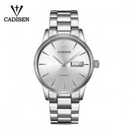 CADISEN zegarek męski automatyczne zegarki mechaniczne japonia NH36A rola data tydzień Top luksusowa marka zegarek na rękę zegar