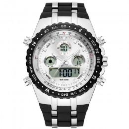 Readeel Top marka Sport zegarek kwarcowy na rękę mężczyźni wodoodporne zegarki wojskowe LED cyfrowe zegarki mężczyźni zegarek kw