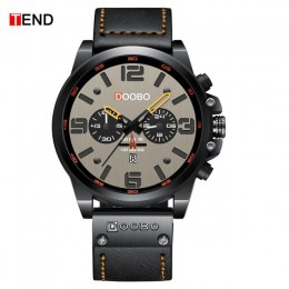 TEND mężczyźni zegarki nowy top luksusowej marki wodoodporny Sport Wrist Watch Quartz wojskowy prawdziwej skóry Relogio Masculin