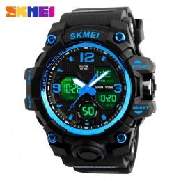 SKMEI New Fashion men sport zegarki świeci jasno zegarki kwarcowe zegarki cyfrowy zegar wojskowy kamuflaż wodoodporny zegarek