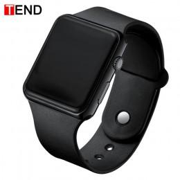 Nowy stylowy Sport LED zegarki kobiety mężczyźni Unisex zegarek cyfrowy mężczyźni zegar armia wojskowy silikonowy zegarek na ręk