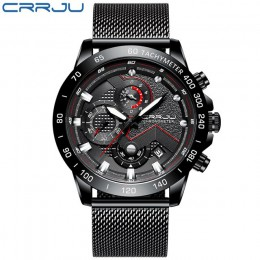 CRRJU modne męskie zegarki Top Luxury brand zegarek na rękę męski zegar Sport wodoodporny zegarek kwarcowy mężczyźni relogio mas