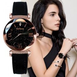 Gogoey zegarki damskie 2019 luksusowe panie zegarek Starry Sky zegarki dla kobiet moda seks kol saati diament Reloj Mujer 2019