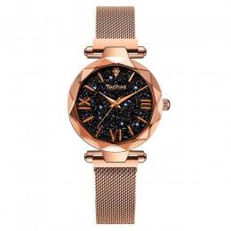 Luksusowe kobiety zegarki magnetyczne Starry Sky kobieta zegar zegarek kwarcowy moda damska zegarek na rękę reloj mujer relogio