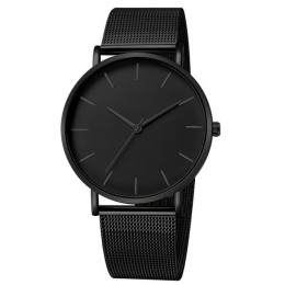 Luksusowe kobiety zegarek Mesh bransoletka ze stali nierdzewnej Casual zegarek kwarcowy na rękę kobiety zegarki zegar reloj muje