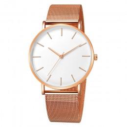 Kobiety Watch złota róża Montre Femme 2019 kobiet pasek z siatki ultra cienkie, modne relojes para mujer luksusowe zegarki na rę