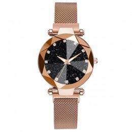 Panie magnetyczne Starry Sky zegar luksusowe kobiety zegarki moda diament kobiet zegarki kwarcowe Relogio Feminino Zegarek Damsk