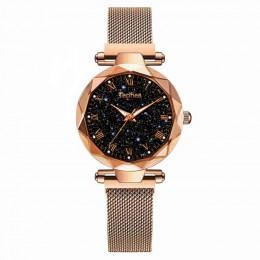 2019 panie zegarek na rękę Starry Sky magnetyczne kobiety oglądać Luminous luksusowe wodoodporna kobiet zegarek dla relogio femi