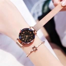 Zegarek damski zegarek damski magnetyczny Starry Sky zegar zegarek kwarcowy kobiety zegarki reloj mujer relogio feminino darmowa
