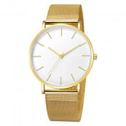 Montre Femme Modern Fashion Reloj Mujer czarny kwarc zegarek kobiety Mesh bransoletka ze stali nierdzewnej Casual Wrist Watch dl