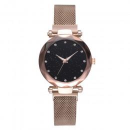 Relogio feminino Starry Sky zegarek kobiet zegarki luksusowe diamentowe panie magnes zegarki dla kobiet zegarek kwarcowy reloj m