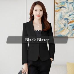 Lenshin wysokiej jakości marynarka prosta i gładka kurtka styl pani z urzędu płaszcz biznes formalna odzież cukierki kolor ciężk