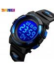 SKMEI dzieci LED cyfrowy zegarek elektroniczny chronograf zegar Sport zegarki 5Bar wodoodporne dzieci zegarki dla chłopców dziew