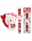 Relogio Infantil 2019 Hello Kitty bajkowy zegarek dla dzieci moda dla dzieci zegarek dziewczyna chłopiec śliczna gumowa skóra el