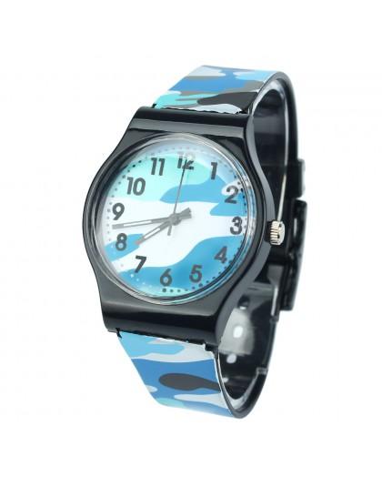 Kamuflaż zegarek dla dzieci zegarek kwarcowy dla dziewczynek chłopiec inteligentne dzieci zegarki sportowe dla nastolatków wodoo